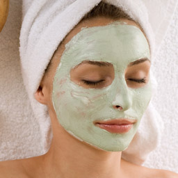 spa facial with mask